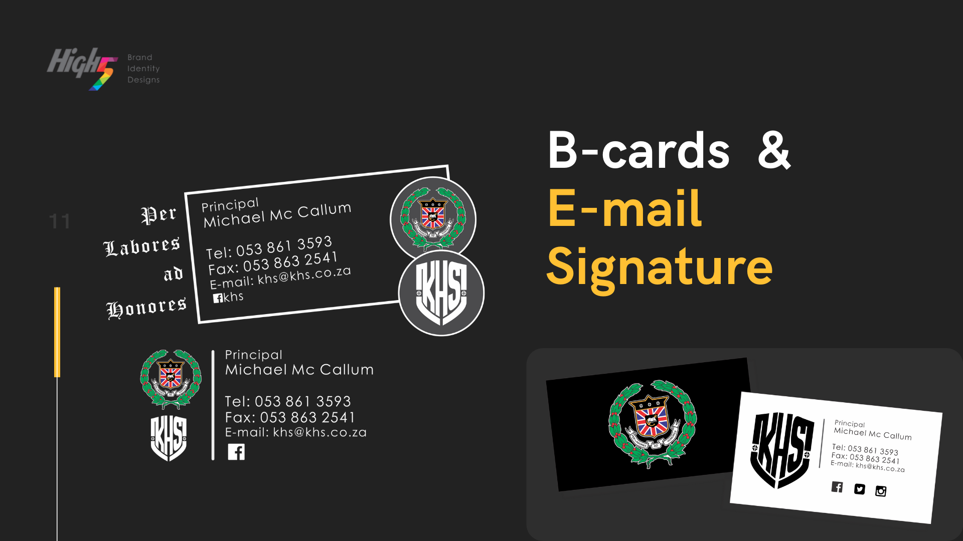 EMAIL SIGNATURE & BUSINESS CARDS